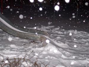 glijbaan witte kerst